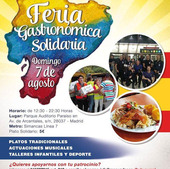 Ecuador celebrará su Fiesta Nacional en Madrid con una Feria Gastronómica Solidaria