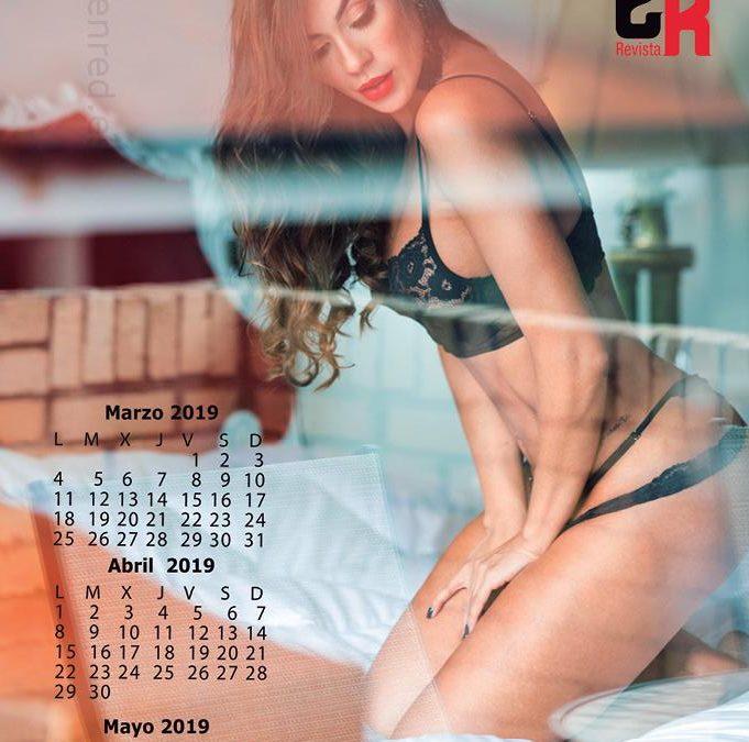 Mayra Adarme modelo del calendario de la revista impresa Eventos En Red Marzo 2019