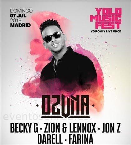Llega a Madrid 'Yolo Music Fest', la gran fiesta de la música urbana que contará con Ozuna y Becky G, entre otros