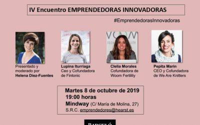 Asiste gratis al IV Encuentro Emprendedoras Innovadoras