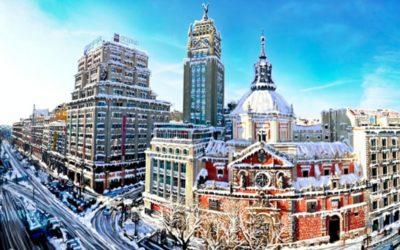 """""""Filomena"""" viste de blanco a Madrid y deja bellas fotos de la nevada en España"""