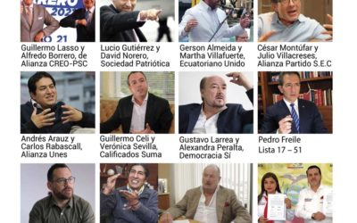 Candidatos presidenciales de Ecuador para las elecciones 2021 del 7 de febrero