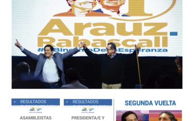 Arauz gana las elecciones en Ecuador y hay empate técnico en el segundo puesto