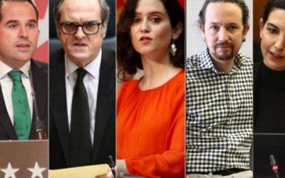 Los candidatos para las elecciones de Madrid del 4-M