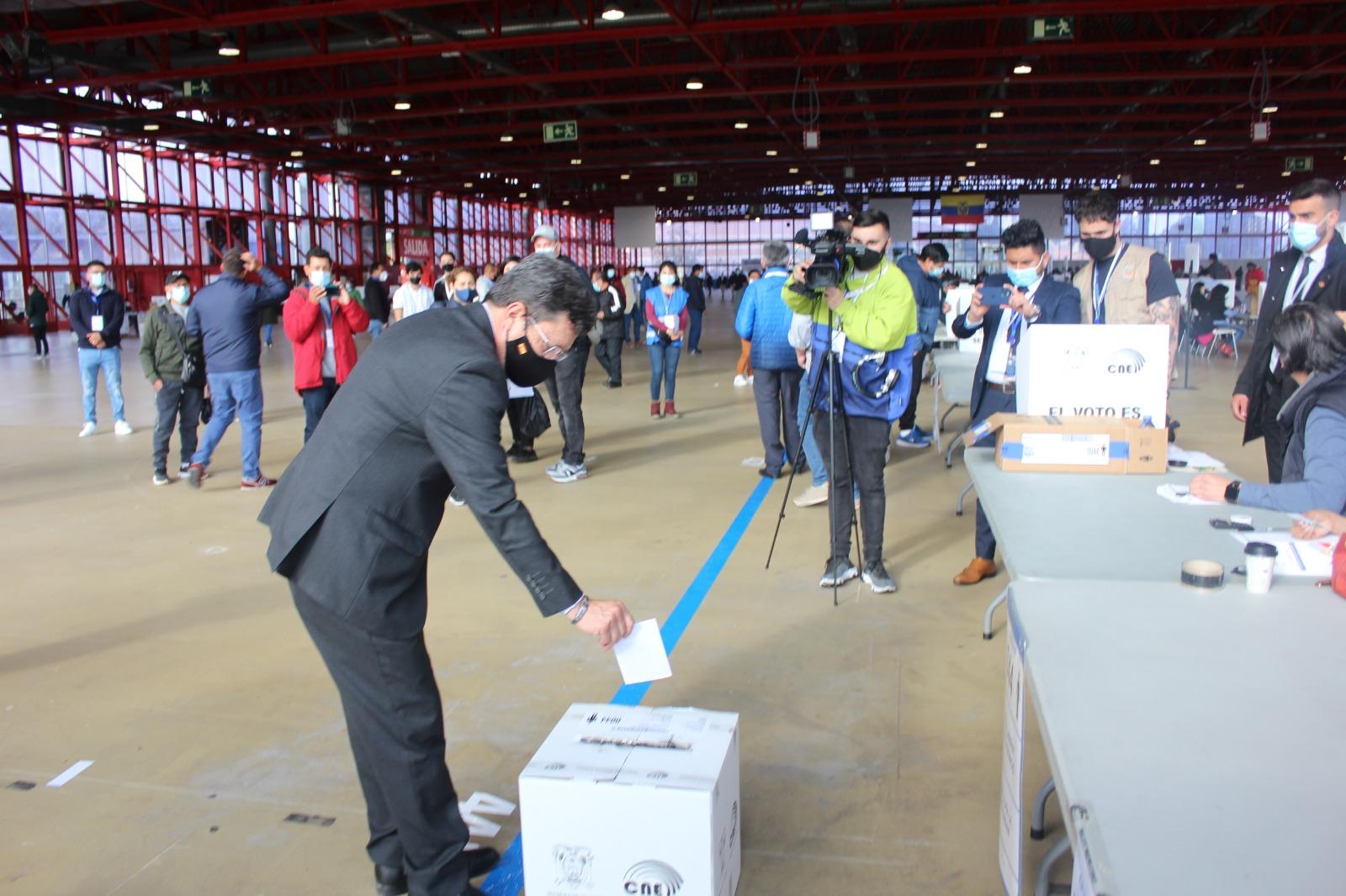 Elecciones presidenciales del Ecuador 2021 en Madrid - Segunda vuelta