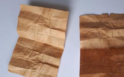 El extraño 'mensaje al futuro' hallado en una carta de 1941 que se había escondido bajo el techo de una iglesia
