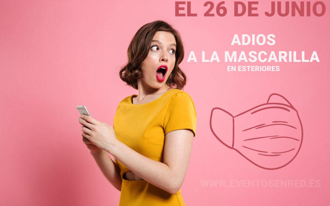 El fin de la mascarilla en exteriores en España